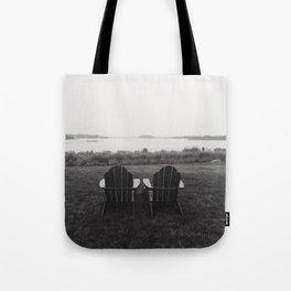 Pair of Chairs in Weekapaugh Rhode Island Tote Bag