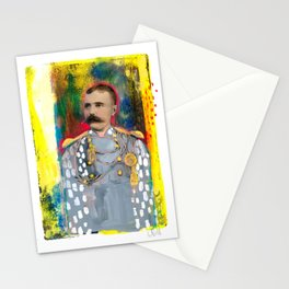 Mustachioed Officer Stationery Cards