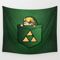 the legend of zelda Wall Tapestries featuring THE LEGEND OF ZELDA  by BeautyArtGalery