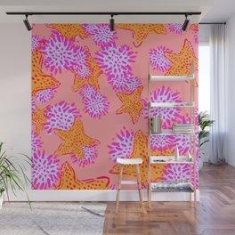 Starfish & Sea Urchins pink Wall Mural