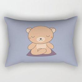 Kawaii Cute Yoga Bear Rectangular Pillow