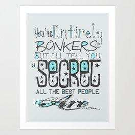Bonkers Art Print