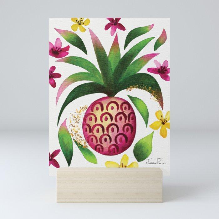 Pretty in Pink Pineapple Mini Art Print