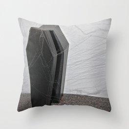 Open Casket Throw Pillow