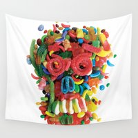 tooth Wall Tapestries featuring Death and Tooth Decay by Marco Angeles