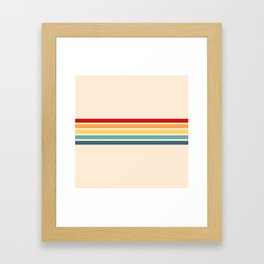 Takaakira - Classic Rainbow Retro Stripes Framed Art Print