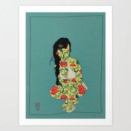 GIRL02 Art Print
