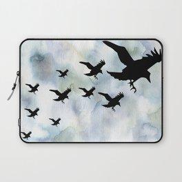 Birds over Water   Crows flying   Abstract birds   Bird aesthtic Laptop Sleeve
