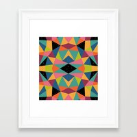 kaleidoscope Framed Art Prints featuring Kaleidoscope by Andy Westface