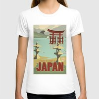 travel poster T-shirts featuring Kaiju Travel Poster by Duke Dastardly