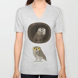 Two little owls Unisex V-Neck