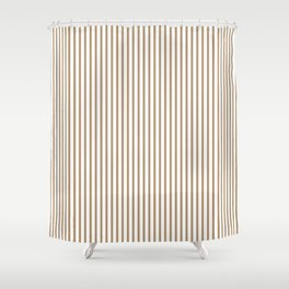 Iced Coffee Stripes Shower Curtain