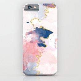 Kintsugi Pastel Marble #kintsugi #gold #japan #marble #pink #blue #home #decor #kirovair iPhone Case