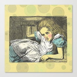 """""""Drink me""""....and Alice does...... Canvas Print"""