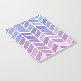 blue & purple chevron Notebook