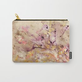 Abstract Marble Acrylic Cherry Blossom Flower Carry-All Pouch