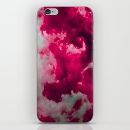 Tumultuous in ruby and mint iPhone Skin