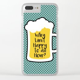 Beer Happy Hour Clear iPhone Case