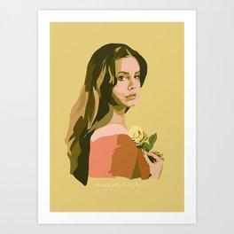 Lana with Rose Art Print
