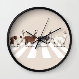 Llama The Abbey Road #2 Wall Clock
