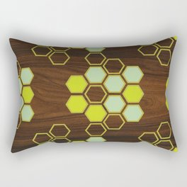 Hex in Green Rectangular Pillow
