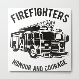 Fire Fighters Metal Print