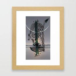 Indian Moon Framed Art Print