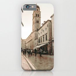 Rustic Cityscape | European Street Charming Dome Tower Muted Moody Fairytale City Photograph iPhone Case
