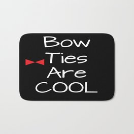 Doctor Who Bow Ties Are Cool red Bath Mat