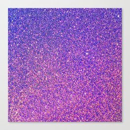 Navy Blue Pink Sparkles Canvas Print