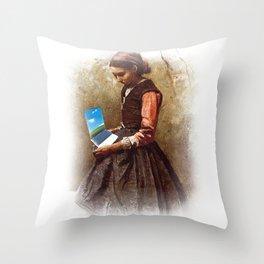 LAPTOP USERS Throw Pillow