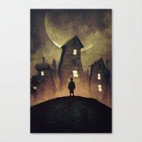 murakami Canvas Prints featuring A Bad Dream by Mikio Murakami