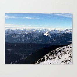 Crispy light air up here Canvas Print