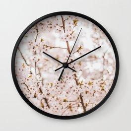 Honey bee blossom Wall Clock