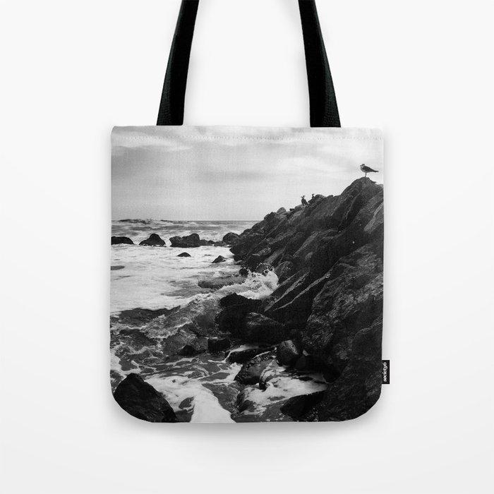 Dark beach Tote Bag