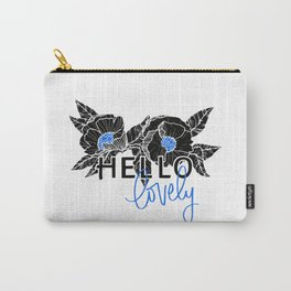 Hello Lovely - Bright Blue Carry-All Pouch