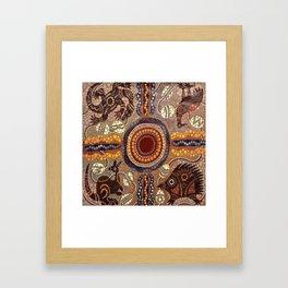 Aboriginal Pattern No. 16 Framed Art Print