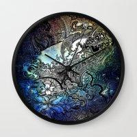 swim Wall Clocks featuring Swim by Jack Graves III