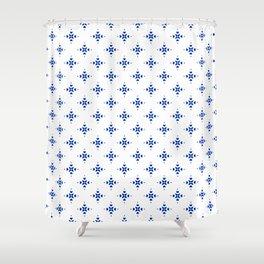 Shibori Watercolour no.8 Shower Curtain