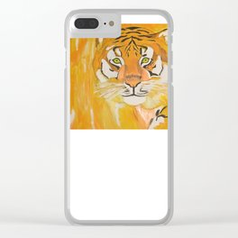 Let your inner wild cat slay Clear iPhone Case