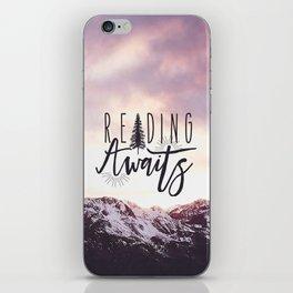 Reading Awaits - Purple Mountains iPhone Skin