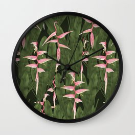 Heliconia Forest Wall Clock