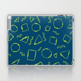 Wiggly - Blue and Green Laptop & iPad Skin