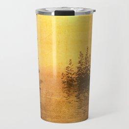 Misty Oriental Sunny Landscape Reflection Travel Mug