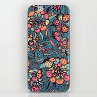 spring iPhone & iPod Skins featuring Sweet Spring Floral - melon pink, butterscotch & teal by micklyn