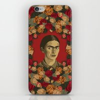 frida iPhone & iPod Skins featuring FRIDA by badOdds