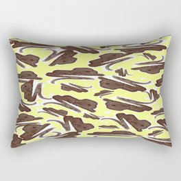 Brown and Yellow Paint Aftermath Rectangular Pillow