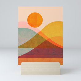 Abstraction_SUNSET_LANDSCAPE_POP_ART_Minimalism_018X Mini Art Print
