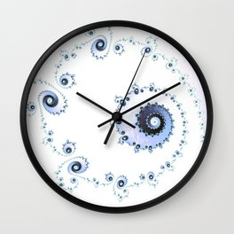 Delicate Lace - Fractal Art Wall Clock