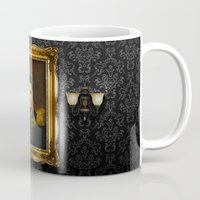 replaceface Mugs featuring Elvis Presley - replaceface by replaceface